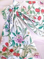 Vtg WAVERLY Floral Cotton Swag Curtain w/Bows Lined Custom Made 4,35M x .65cm