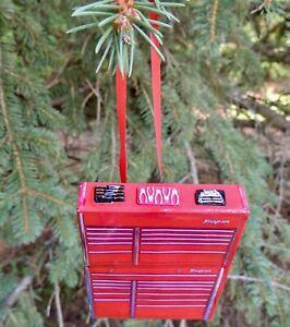 XMAS  Ornament  SNAP ON TOOL BOX WITH TOOLS HANDMADE NEW no BOX