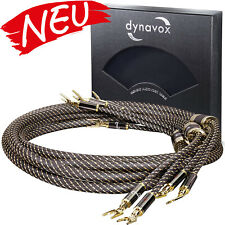 Dynavox flexibles High-End Lautspecher-Kabel mit Bananenstecker 2x3m - 4x4 mm²