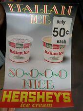 Vintage 1980s Hershey's Italian Ice 50c Poster