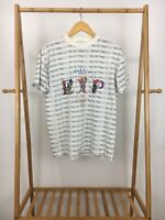 VTG 90s Express Tricot Men's French Country EXP Jeans All Over Print T-Shirt XS