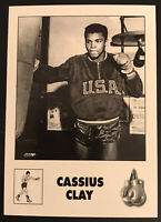 Cassius Clay Muhammad Ali  Black & White USA Boxing Card
