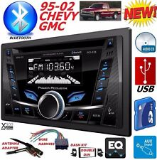 95-02 GM TRUCK/SUV CD USB IPOD IPHONE AUX BLUETOOTH DOUBLE DIN CAR STEREO RADIO
