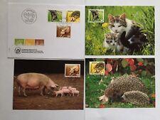 Enveloppe+3 cartes FDC 2004 timbres suisses YT CH 1812/14, Zum CH 1130/32  PSA