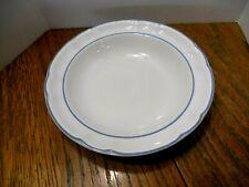 """Floral Expressions Stoneware Large Salad Bowl Blue Floral """"Laurel Pattern"""" 8 1/4"""