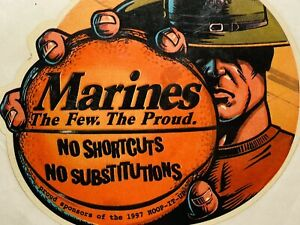 Marines Decal Large Sticker Hoop It Up 1997 Basketball The Few The Proud