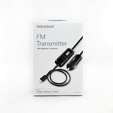 Insignia Fm Transmitter Lightning Connector Apple iPhone iPod Car Charger Combo