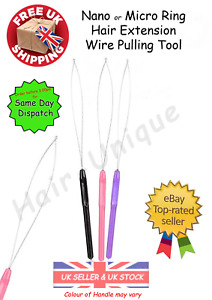Nano Ring or Micro Ring Hair Extensions Wire Pulling Loop Tool x 3 UK Stock