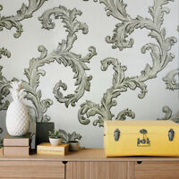 Victorian Wallpaper beige damask faux sack cloth textile Textured wall coverings