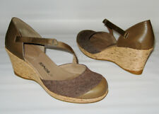 247c27401665 BRAND NEW TEVA RIVIERA WEDGE MARY JANES BROWN SHOES WOMENS 10