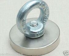 50mm*50mm Strong Round Rare Earth Permanent Neodymium NdFeB Magnet Eyebolt Ring