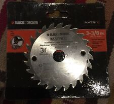 "Genuine Black & Decker BDA8324 Matrix 3-3/8"" 24 Carbide Teeth Saw Blade Sealed"