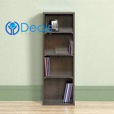 DVD CD Storage Tower Multimedia Wall Organizer Bookcase Holder Stand Made in USA