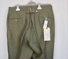 $1050 NWT Thom Browne 100% Linen Backstrap Pants Men Size 1 Gray Italy Flat