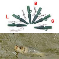 30x Green Carp Fishing plomb clips Snap Link Size3 pivotant pour les cheveux Rig