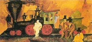 Print Poster Lyonel Feininger. The Old Locomotive. 1906
