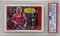 HULK HOGAN 1985 O-PEE-CHEE It's Rock And.. OPC WWF Pro Wrestling CARD #66 PSA 8