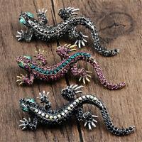 Farbe Marke Emaille Pin Lapel Gecko. Brosche Kristall Eidechse