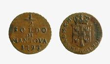 s418_5) Mantova - FRANCESCO ii - 1/2 Mitte Penny 1793 seltene