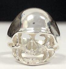 Silver Skull Helmet Ring Heavy Solid Sz 10/ Nt Scrap 925 NEW ! Gothic Sterling