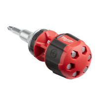 Milwaukee 8-in-1 Compact Ratcheting Multi-Bit Screwdriver Hand Tools Equipment