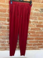 NEXT WOMENS JERSERY PULL UP RED TROUSERS SIZE: 8L BNWT RRP £18