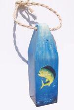Mahi fish handcrafted wooden Buoy art nautical decor marine life beach tortoise