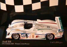 AUDI R8 #1 WINNERS LEHTO WERNER GP ATLANTA 2005 MINICHAMPS 400051391 1/43
