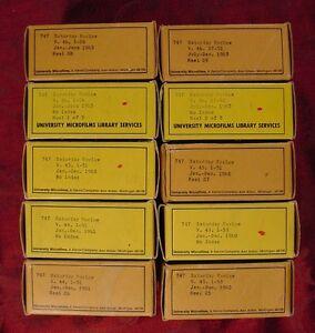 SATURDAY REVIEW MICROFILM 1962-1963-1964-1965-1966-1967-1968-1969-1970-1985