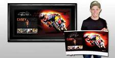 Casey Stoner Hand Signed & Framed Dual World Champon Limited Edition Print Rossi