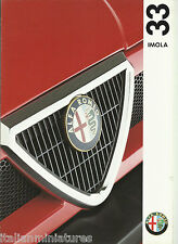 Alfa Romeo 33 Imola 1.3 ie Italian 8 Page Brochure Depliant 1992 Mint Condition