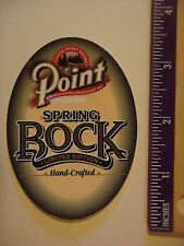 STICKER ^^ STEVENS POINT Brewery Limited Edition Spring Bock ~ WISCONSIN Brewery