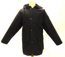 Campbell Cooper British Hunting Wax Cotton Jacket Coat Padded Blue Medium