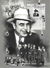 AL CAPONE COLLAGE 8X10 PHOTO MAFIA ORGANIZED CRIME MOBSTER MOB BORDER PICTURE