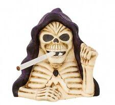 Skelett Teelicht Halter Gothic Skull Mystik Magie 17cm Deko Fantasy Schädel NEU