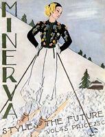 Minerva #45 c.1936 Excellent Book Vintage Knitting Patterns for Women's Fashion