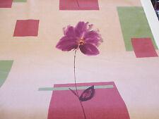 Floral Abstracto lino Tonos SPELLBOUND estampado 100% Algodón Tela de cortina