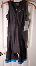 2xu Womens Ld Core Support Tri Suit Charcoal/ultramarine Blue XS