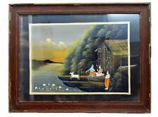 Vintage Collectible Rare God Krishna Decorative Indian handmade painting. i54-19