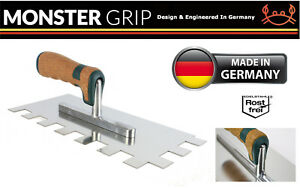 MonsterGrip Notched Trowel S/Steel 20mm Notch Grout Spreader Trowel Cork Handle