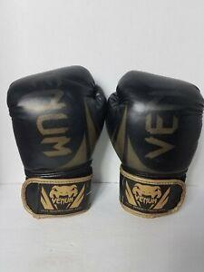 Venum Boxing Gloves 10oz Kickboxing Gloves MMA Training Black/Gold
