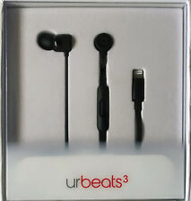 Apple Beats by Dr. Dre urBeats3 Earphones W/Lightning Connector Black MQHY2LL/A