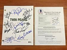 TWIN PEAKS SIGNED FULL PILOT SCRIPT BY 11 CAST w/ BECKETT COA KYLE MACLACHLAN