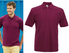 MENS HEAVYWEIGHT WORK POLO. BURGUNDY. SIZE S. BRAND NEW. FRUIT OF THE LOOM