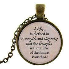 Christian Scripture Necklace - Proverbs 31 pendant Christian Jewelry Jewellery