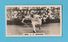 TENNIS - BRITISH AMERICAN TOBACCO - SCARCE TENNIS CARD -  MRS.  GODFREE  -  1926