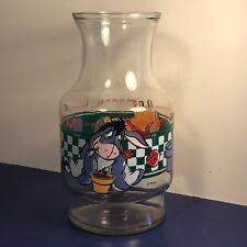 WINNIE POOH WALT DISNEY GLASS DRINK PITCHER FLOWER POT EEYORE GARDEN HONEY SIT 2