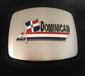 Dominican Republic Flag Latin Santo Domingo Belt Buckle Boucle De Ceinture