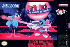 Daffy Duck Marvin Mission - SNES Super Nintendo Game