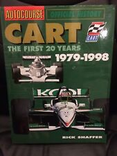 Autocourse 25 years of CART history multi signed Unser Rahal Indy 500 book